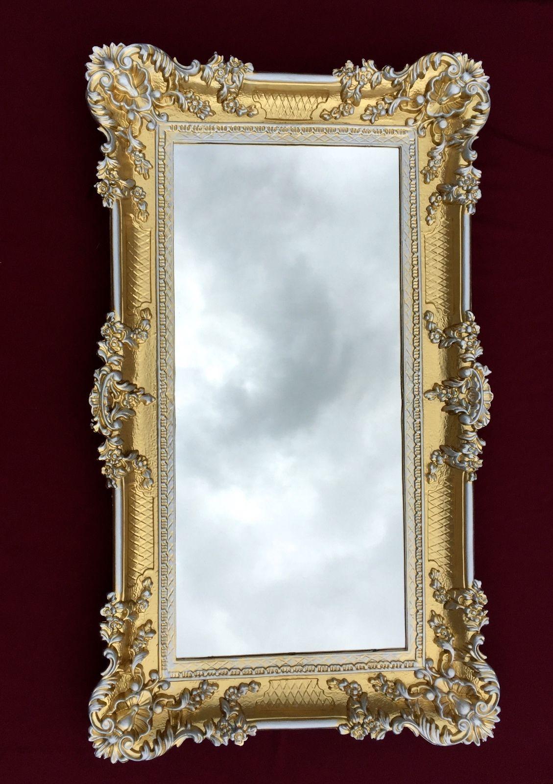 wandspiegel barock gold silber spiegel antik 97x57. Black Bedroom Furniture Sets. Home Design Ideas