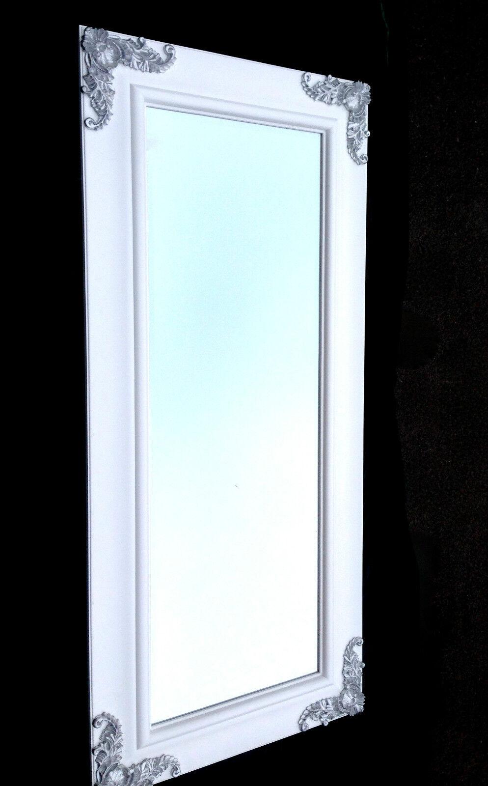 xxl wandspiegel wei silber 180x80 wei friseurspiegel flur spiegel gro kaufen bei pintici. Black Bedroom Furniture Sets. Home Design Ideas