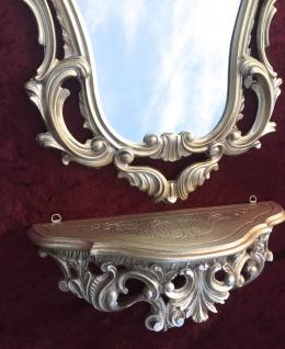 Konsole Spiegelablage Wandspiegel mit 50 X 76 ANTIK BAROCK Badspiegel Gold - Vorschau 4