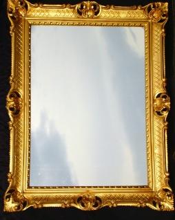 Wandspiegel groß Antik Badspiegel Barock Spiegel BAROCK Rechteckig 90x70 GOLD