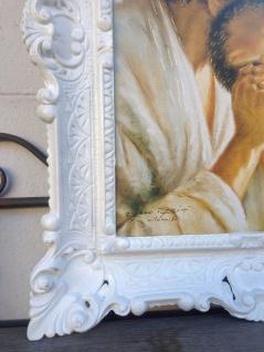 Bilderrahmen Weiß Barock 56x46 Fotorahmen Antik Bilderrahmen Rechteckig 30x40 - Vorschau 3