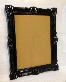 Bilderrahmen Schwarz Barock Hochzeitsrahmen Antik 90x70 Bilderrahmen 50x70 groß - Vorschau 2