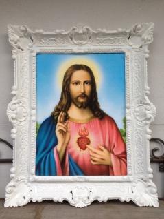 Gemälde Jesus Christus 56x46 Kunstdruck Bild Wandbild heilige Jesus Bilder