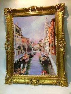 Venedig Brücke Boot Gerahmte Gemälde 90x70 Italien Venezia Venedig Gondel - Vorschau 4