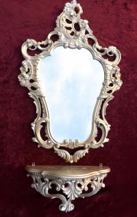 Konsole Spiegelablage Wandspiegel mit 50 X 76 ANTIK BAROCK Badspiegel Gold