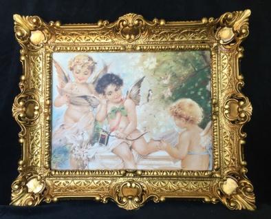 Engel Schutzengel Heiligebild Wandbild 56x46 Gerahmte Gemälde Engel Music