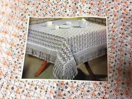 Spitzentischdecke Tischdecke Spitze gesäumter Rand weiß Aprico 160x160cm