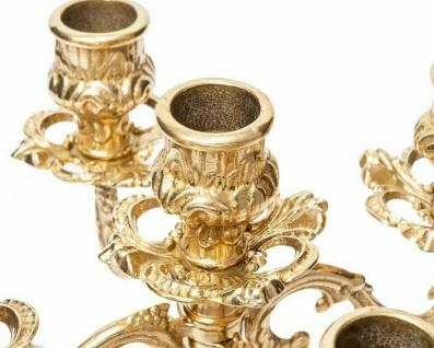 Kerzenhalter KerzenstÄnder Messing Deko Gold 5 Armig Kerzenleuchter Ständer 411 - Vorschau 5