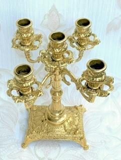 Kerzenständer Messing Antik Stil 5 Flammig Kerzenhalter Kerzenleuchter Barock