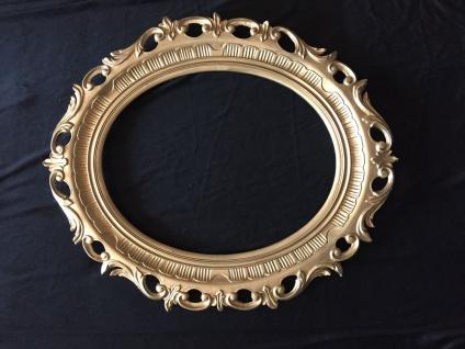 Wandspiegel Spiegel gold 58x68 BAROCK Antik Oval Badspiegel deko Modern 3041