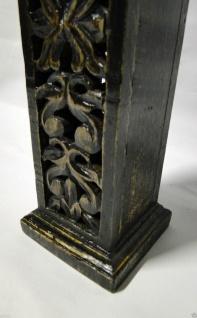 Kerzenhalter Holz Antik 36x10 Kerzenständer aus Mango Holz Ausstellunsstück 752