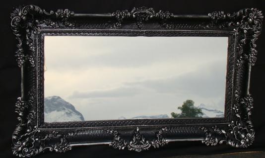 Wandspiegel Barock Antik DEKO Badspiegel, Schwarz-Silber 97x57, NEU 3074 Flur