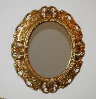 Wandspiegel Spiegel Barock Antik Gold 45x38 Oval Badspiegel