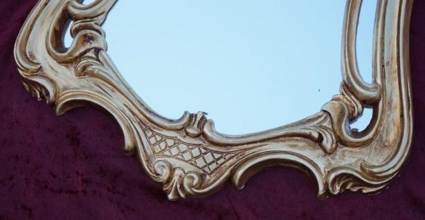 Wandspiegel Antik Oval Gold Badspiegel Spiegel 54X39 Shabby Flurspiegel c498 - Vorschau 4