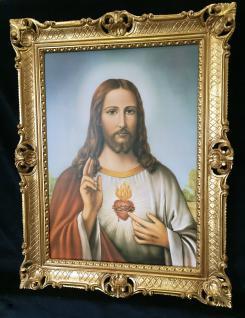 Jesus Christus Wandbild Christliche Heilige Jesus Bild Bilderrahmen Gold H1