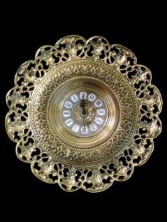 Wanduhr Messing Gold Barock Uhr Quarz Rund 31cm Wanddeko