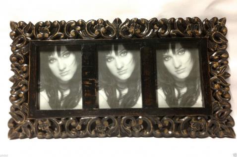 Bilderrahmen HOLZ Mango 56x30 Antik Barock 13x18 Ausstellungsstück Fotorahmen