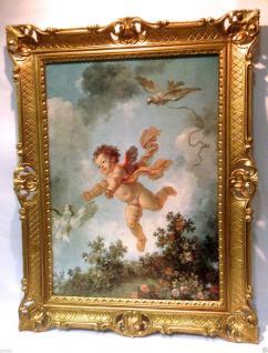 Engelbild 90x70 Schutzengel Wandbild Schlafzimmer Bild Heilige Bild  Bilderrahmen