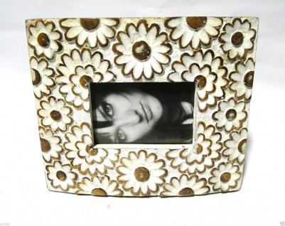 Bilderrahmen Weiß HOLZ Antik 20x24 Blumen 13x9 Ausstellungsstück Fotorahmen