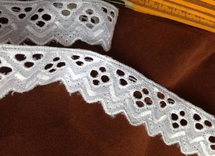 9 METER Spitzenborte Weiß band 3 cm Baumwolle Spitze Kissen Stickerei Madeira