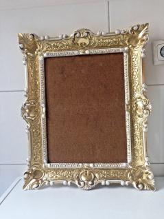 Italienischer Rahmen Gold-Weiß Bilderrahmen Barock 57x47 Antik Fotorahmen Neu