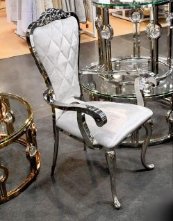 Esstischstuhl Weiß designer esstischstuhl esszimmerstuhl edelstahl weiß silber stuhl