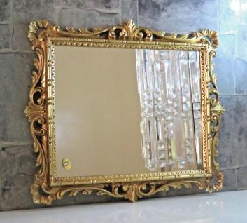 Wandspiegel Gold Ornamente Barockspiegel 38x36 Friseurspiegel Flurspiegel Mirror