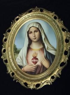 Bild mit Rahmen Heiligenbilder Gemälde Heilige Maria Mutter Gottes 58X68 Madonna - Vorschau 3