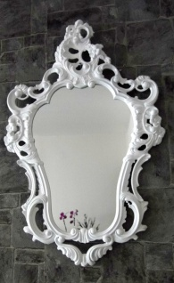 Wandspiegel Weiß ornamente Antik Spiegel Barock Shabby oval Badspiegel 50x76 - Vorschau 4