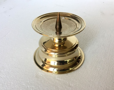 Kerzenhalter Messing Poliert Kerzenleuchter Gold 8 Cm Massiv Kandelaber - Vorschau 2