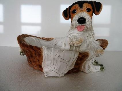 Hundefigur 40x35x25 yorkshire terrier Skulptur Tiere Hundewelpen Gartendeko
