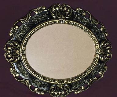 Bilderrahmen Oval Barock Schwarz-Gold 45X38 Fotorahmen Bilderrahmen mit Glas