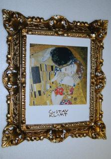 Bilder mit Rahmen Kunstdruck Gustav Klimmt der Kuss 45x37 Barockrahmen