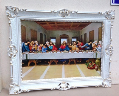 Gemälde Das Abendmahl Leonardo Da Vinci Heiligenbilder 90x70 Jesus Christus