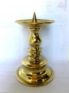 Kerzenhalter MESSING poliert KERZENLEUCHTER GOLD 15cm MASSIV Kandelaber 82278