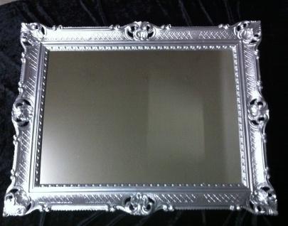 Wandspiegel silber 90x70 Spiegel BAROCK Rechteckig Antik mirror rechteckig NEU - Vorschau 5