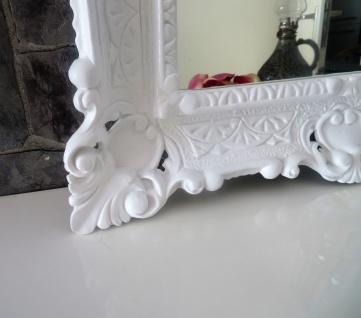 Wandspiegel WEIß Barock Shabby, Jugendstil 57x47 Antik Badspiegel Flurspiegel - Vorschau 4