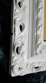 Bilderrahmen Weiß Barock 43x36 Rahmen Weiß jugendstill, Shabby, Fotorahmen