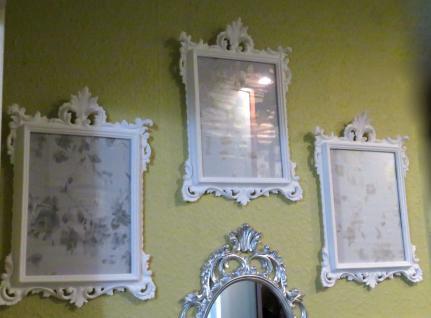 Bilderrahmen mit Schutzglas Barock WEIß Antik 36x24 Bilderrahmen Fotorahmen