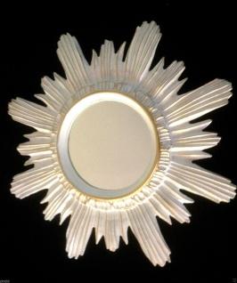 Wandspiegel Weiß-Gold Retro SPIEGEL SHABBY ANTIK BAROCK BADSPIEGEL 42CM