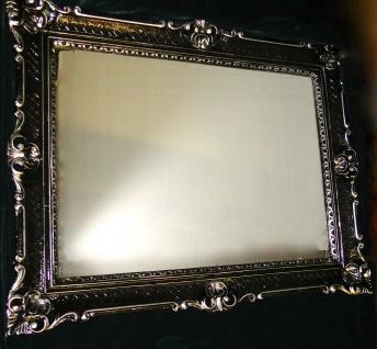Wandspiegel Barock Rechteckig Spiegel Antik WANDDEKO Schwarz-Silber 90x70cm