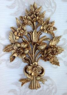 Wanddeko Antik Barock Wandbehang 38x28cm Gold Blumen Wandrelief Tür/Möbel Deko - Vorschau 4