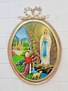 Heilige Religiöse Bilder Maria Lourdes 57x41 Madonna Jesus Christus Ikonen Bild - Vorschau 3