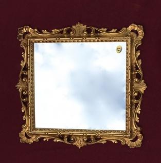 Wandspiegel Barock Gold mit Glas 38x36 Barspiegel Antik Badspiegel Shabby C533