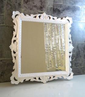 Wandspiegel Weiß Barock Wanddeko 38x36 Barspiegel Antik Badspiegel C533