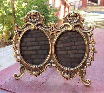 Fotorahmen Rahmen Bilderrahmen Messing Gold 23x19, Antik Barockrahmen 9x11cm Oval