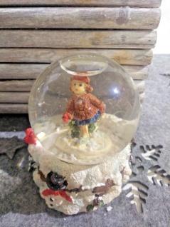 weihnachtskugel Glaskugel Schneekugel schneemann Mädchen im schnee schneeflocken - Vorschau 4