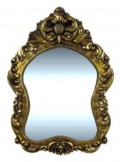 Wandspiegel Spiegel BAROCK Antik Gold 74x54cm Mirror Badspiegel