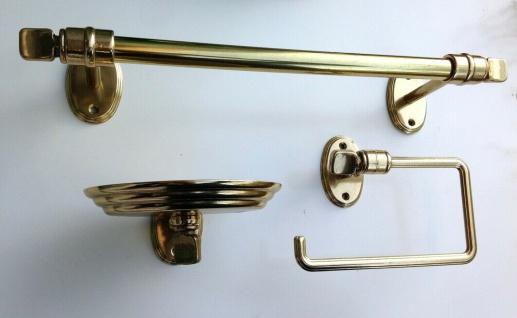 Handtuchhalter Gold Messing Wc Toilette Bad Barock Badaccessoires Seifenspender - Vorschau 3