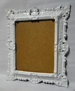 Bilderrahmen Fotorahmen Weiß Barock Rechteckig 45x37 Rahmen Antik mit Rückwand - Vorschau 2